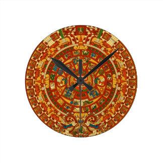 Plantilla azteca de Qpc de los regalos Reloj Redondo Mediano