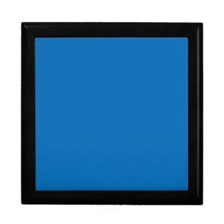 Plantilla azul brillante del espacio en blanco de  caja de joyas