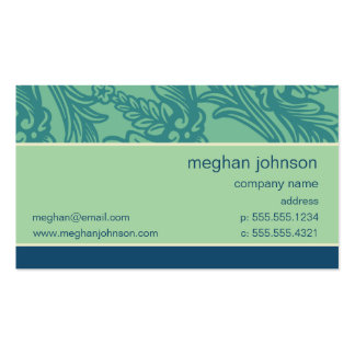 Plantilla azul de la tarjeta de visita del trullo