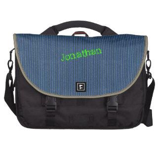 Plantilla azul del bolso del ordenador portátil de bolsas para ordenador