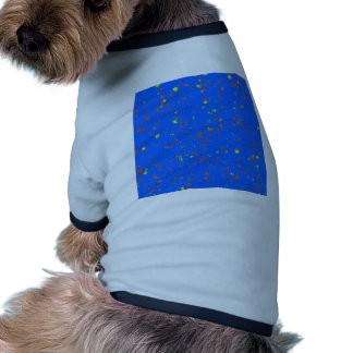 Plantilla azul DIY del CIELO +DIVERSIÓN del Camiseta De Mascota