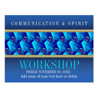Plantilla azul moderna de la invitación del taller