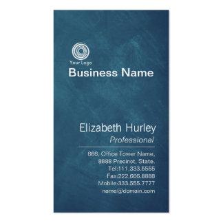 Plantilla azul moderna de la tarjeta de visita de