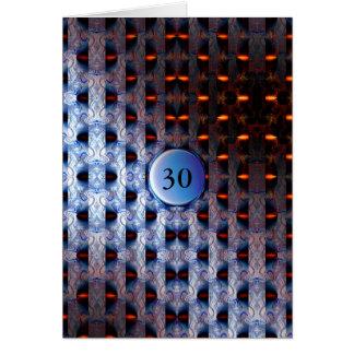 Plantilla azul y anaranjada tarjeta de felicitación