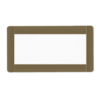 Plantilla básica de la frontera del color que bril etiqueta de envío