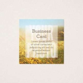 Plantilla blanca cuadrada de la capa de la tarjeta