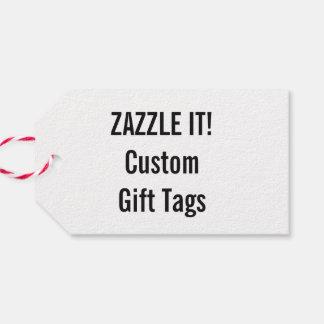 Plantilla blanca del espacio en blanco de la etiquetas para regalos
