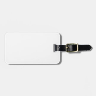 Plantilla blanca etiqueta para maletas
