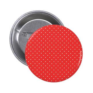 Plantilla blanca roja del personalizado del fondo  chapa redonda de 5 cm
