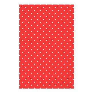 Plantilla blanca roja del personalizado del fondo   papeleria