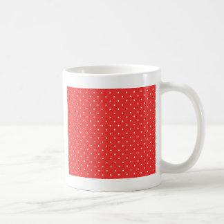 Plantilla blanca roja del personalizado del fondo taza