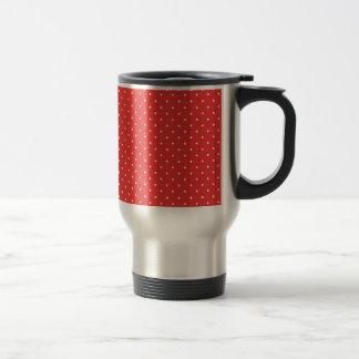 Plantilla blanca roja del personalizado del fondo taza térmica