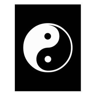 Plantilla blanco y negro del ejemplo de Yin Yang Postal