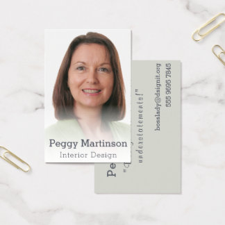 Plantilla brumosa simple de la foto del diseño tarjeta de visita