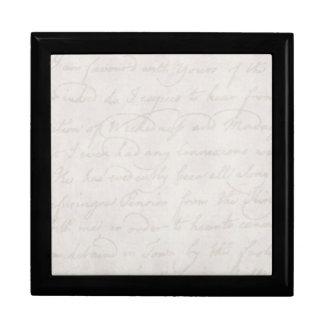 Plantilla colonial del documento de información caja de recuerdo