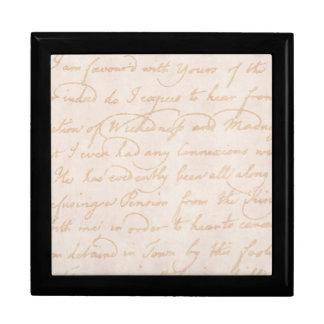Plantilla colonial del documento de información caja de joyas
