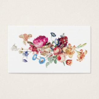 Plantilla color de rosa floral del modelo del tarjeta de negocios