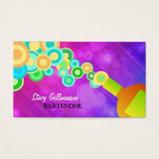 Plantilla colorida de la tarjeta de visita que