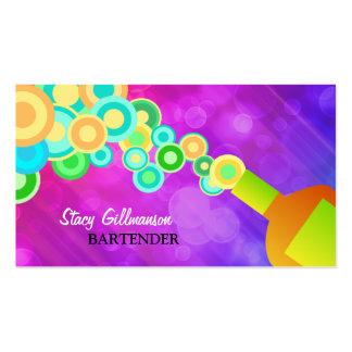 Plantilla colorida de la tarjeta de visita que sir