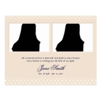 Plantilla conmemorativa fúnebre de la foto de la t tarjeta postal