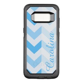 Plantilla conocida azul de Chevron Funda Otterbox Commuter Para Samsung Galaxy S8