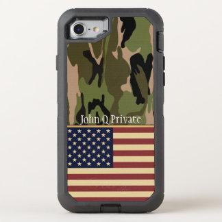Plantilla conocida de Camo de la bandera de los Funda OtterBox Defender Para iPhone 8/7