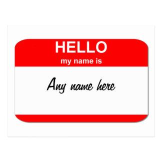 Plantilla conocida en blanco de la etiqueta postal