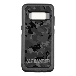 Plantilla conocida oscura de Camo Funda Otterbox Commuter Para Samsung Galaxy S8