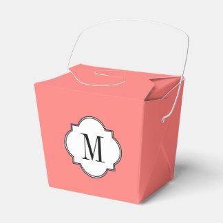 Plantilla coralina coralina del monograma cajas para regalos
