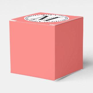 Plantilla coralina coralina del monograma cajas para regalos de fiestas