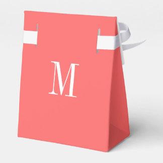Plantilla coralina del monograma cajas para regalos de fiestas