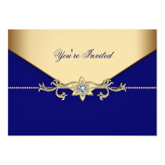 Plantilla corporativa azul del acontecimiento del invitación 12,7 x 17,8 cm