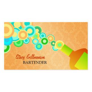 Plantilla creativa de las tarjetas de visita del c