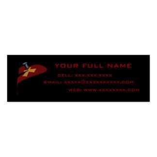 Plantilla cruzada de la tarjeta del perfil del tarjetas de visita mini