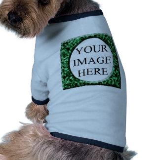 Plantilla cuadrada de mármol verde camisa de perrito