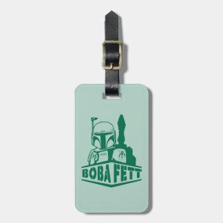 Plantilla de Boba Fett Etiquetas Maletas