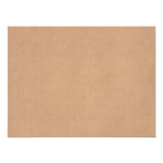 Plantilla de cuero del papel de pergamino de Brown Impresión Fotográfica