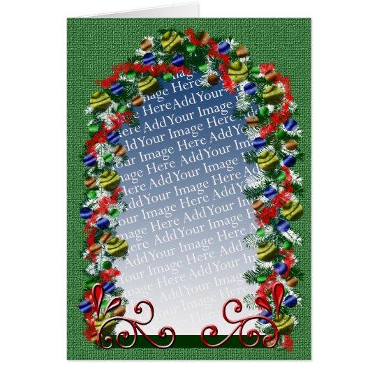 Plantilla de encargo de la foto de la ventana del tarjeta de felicitación