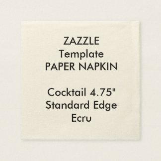 Plantilla de encargo de la servilleta de papel del