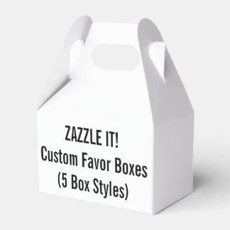 Plantilla de encargo del espacio en blanco de cajas para regalos