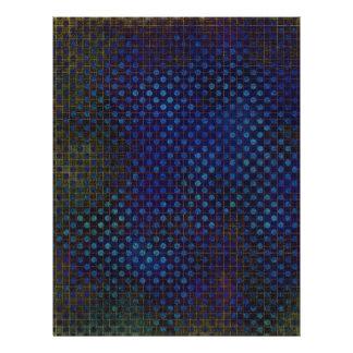 Plantilla de encargo: Modelo de semitono azul mari Folleto 21,6 X 28 Cm