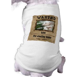 Plantilla de encargo querida de la foto del mascot camiseta sin mangas para perro
