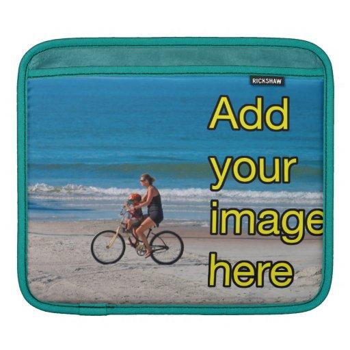 Plantilla de foto personalizada a medida en blanco mangas de iPad