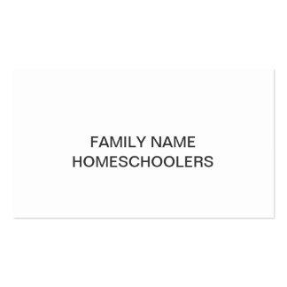 Plantilla de Homeschooler Tarjetas De Visita
