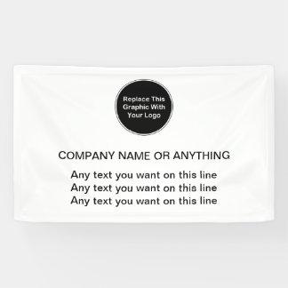 Plantilla de la bandera del logotipo del negocio