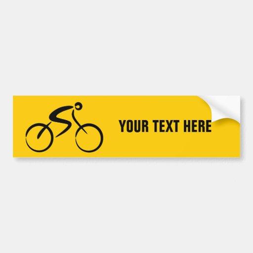 Plantilla de la bicicleta pegatina de parachoque