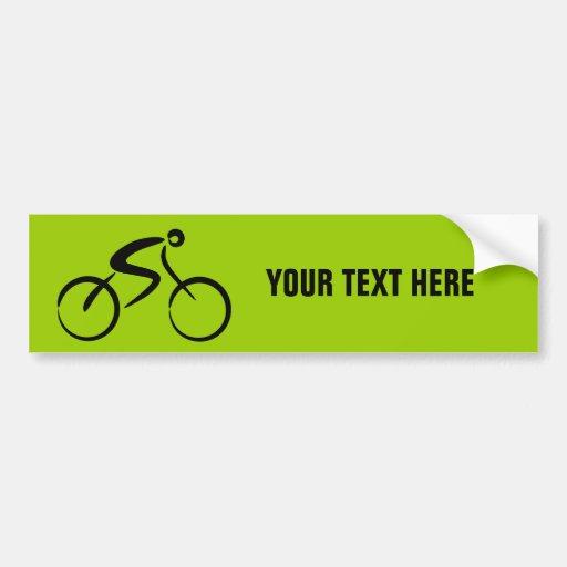 Plantilla de la bicicleta etiqueta de parachoque