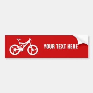 Plantilla de la bicicleta pegatina para coche