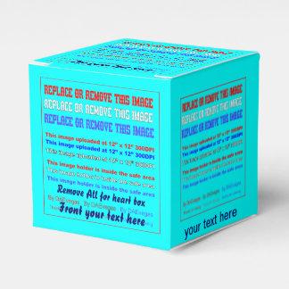 Plantilla de la caja sobre la opinión trasera de caja para regalos