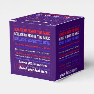 Plantilla de la caja sobre la opinión trasera de caja para regalos de fiestas